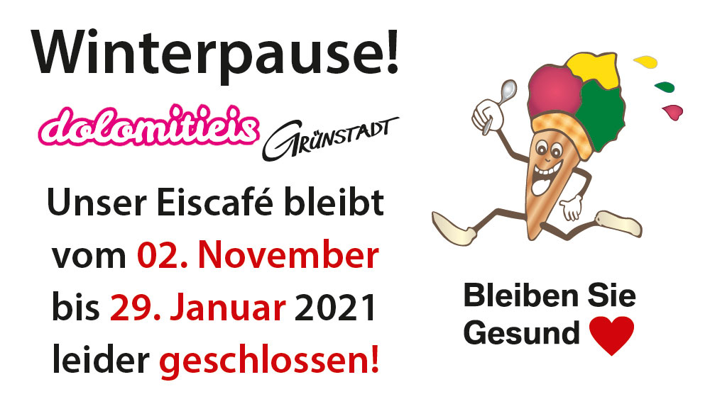 Eiscafe Gruenstadt Winterpause
